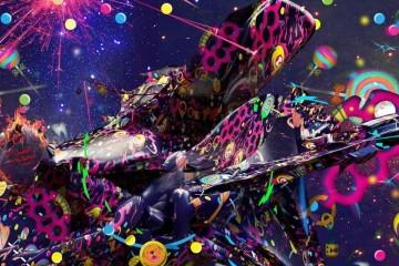 Multicolor Psychedelic Digital Art